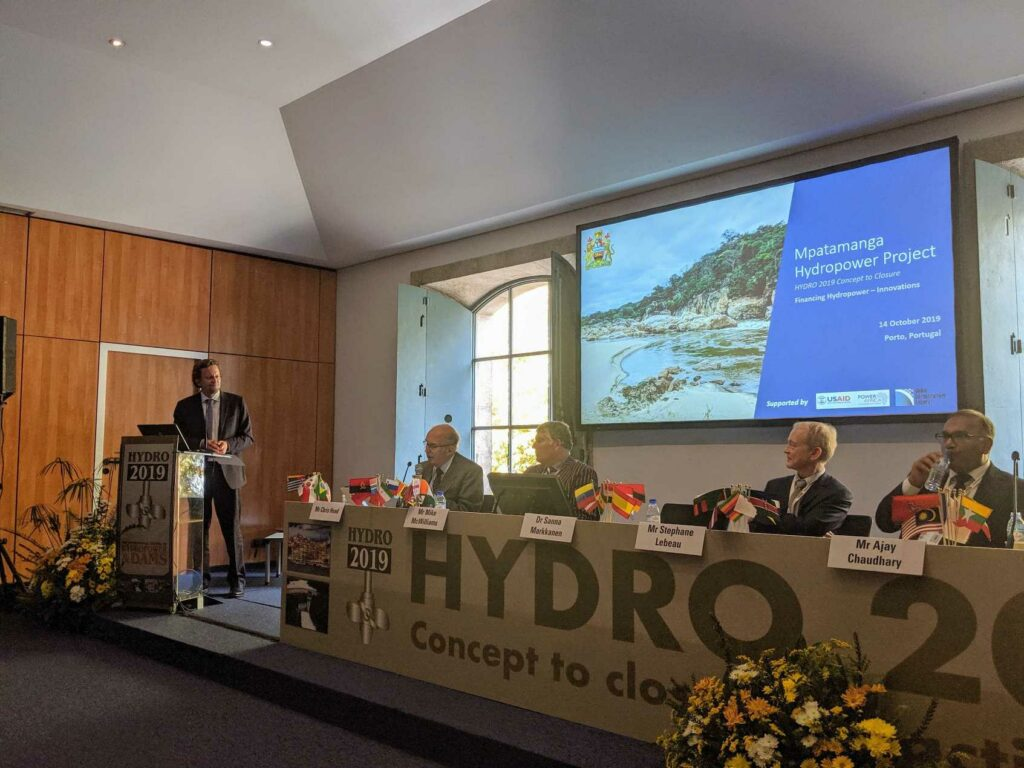 Sebastian Deschler Presents Mpatamanga Power Project at Hydro 2019