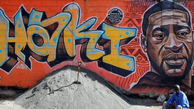 A mural of George Floyd in Kibera, Nairobi, Kenya